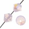 Preciosa Machine Cut bead Rondell 4mm Rose Opal Aurora Borealis